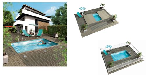 Piscine et spa le webmagazine de la piscine et du spa - Mini piscine nage contre courant ...